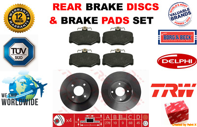 ABS Fits Nissan PRIMERA P11 1996-2002 FRONT BRAKE DISCS /& PADS 1.6 1.8 2.0