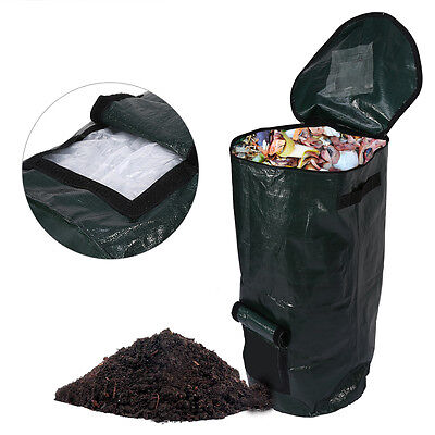 Garden Organic Waste Kitchen PE Compost Bag Cloth Planter Fertilizer Making DY