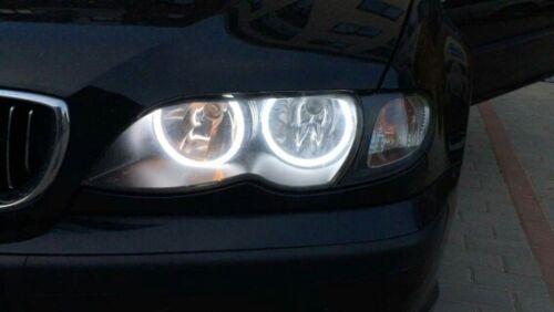 SMD LED Angel Eyes Halo Rings Universal 2x 105mm Headlight White Halo Rings Kit