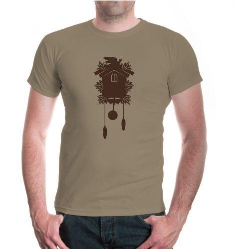 Hommes unisexe T-shirt manches courtes T-shirt unisexe Coucou Cuckoo clock Rétro Old school c51976