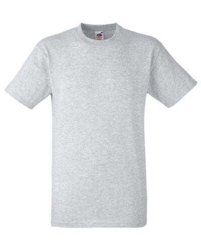 Blank Short Sleeve Top Adult Fruit of the Loom Plain Heavy Cotton t-shirt