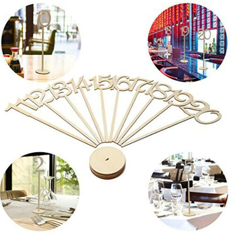10pcs One Ten Freestanding Wooden Table Numbers Sticks Decor Craft Wedding Party For Sale Online Ebay