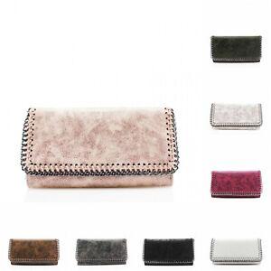 ab767ee615c New Ladies Folded Chain Trim Stitch Detail Women Long Purse Phone ...