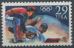 1992 Usa Etats Unis N°2010** Base-ball, Jeux Olympiques, Olympic Baseballs Mnh