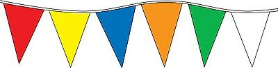 "Pennant Flag Streamers MULTI COLOR 105' (48 12""x18"" Pennants per String)"