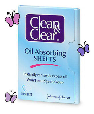 Clean & Clear Instant Oil-Absorbing Sheets 50 sheets-- PACK OF 3