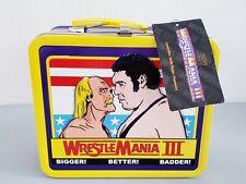 WWE WRESTLEMANIA 3 TIN pranzo Box HULK HOGAN VS Andre il Gigante NUOVO CON ETICHETTE