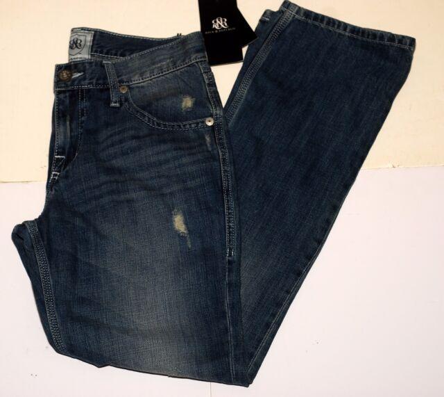 Rock Republic Skid Row Men s Boot Cut Leg Jeans Blue Denim New w Tags 30 x 52d0e1266