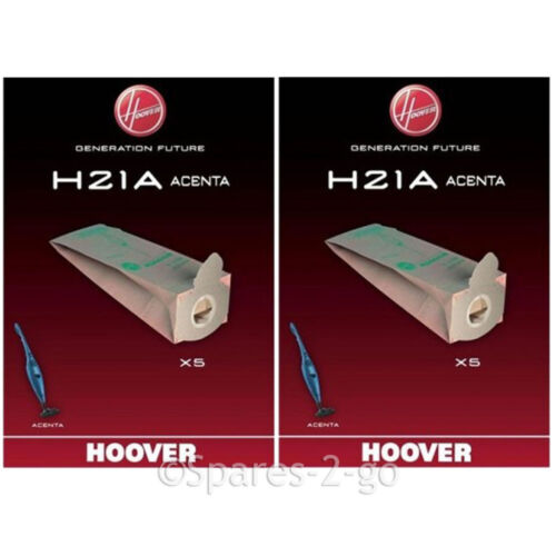 10 x HOOVER Genuine H21A Bags for Acenta Series Vacuum Cleaner