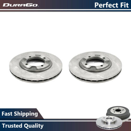 Durago Pair Front Brake Rotors For 1992-1997 Hyundai Elantra