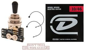 Details about EMG 3 POS POSITION STD GIBSON TOGGLE SWITCH B289 BLACK on