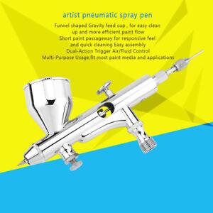 Kits-Aerographe-Compresseur-D-039-Air-a-Double-Action-Nail-Art-Maquillage-Peinture