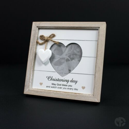 Provence Heart Shabby Chic Photo Frame Hanging Heart Mum Nan Sister Friends gift