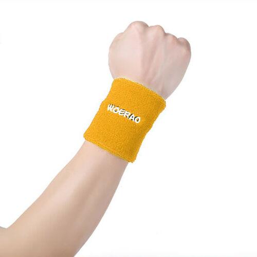 Sweatbands Terry Cotton Wrist Sweat Band Yoga Sports Running Wristband US