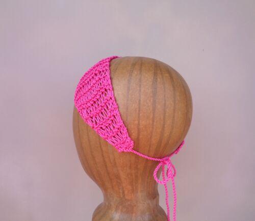 Hand Knit Headbands Tie Back Cotton Blends MANY COLORS Women Teen Girls Fashion