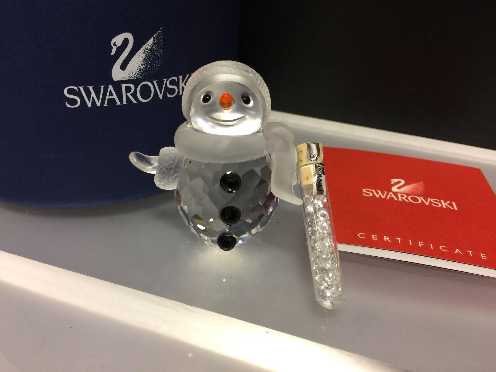 le migliori marche vendono a buon mercato SWAROVSKI Figura  Pupazzo di neve padre di 5,7 cm. cm. cm. con OVP & certificato (ottimo stato)  alta qualità genuina