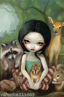Snow White & Friends Mouse Pad Jasmine Becket-griffith Fantasy Art 8 X 10
