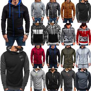 Mens-Sweatshirt-Pullover-Zip-Up-Casual-Hoodie-Hooded-Sports-Gym-Coat-Jacket-Tops