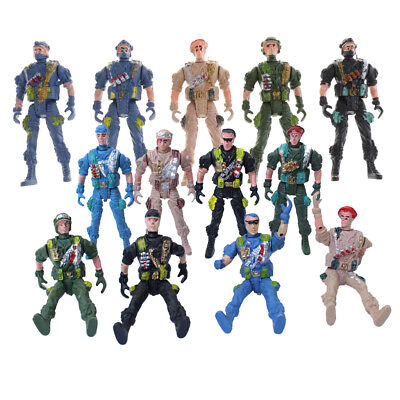 5pcs Plastic Military Set Toy 9cm Paratroopers Action Figure Army Soldiers