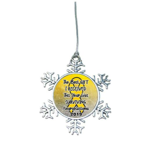 Neuroblastoma Survivor Christmas 2019 Ornament Choose Snowman Snowflake or Bulb