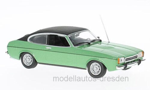 Maxichamps 940081200 Ford Capri II Metallic Green Green Green Scale 1 43 MODEL CAR NEW  ° e4a147