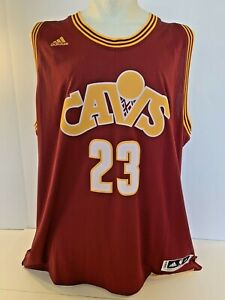 new arrival 41ad9 51e34 Details about Lebron James Adidas Swingman Cleveland Cavs Throwback Jersey  sz 4XL NWT