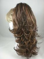 Long Blonde Straight Ponytail Hairpiece W/curled Ends