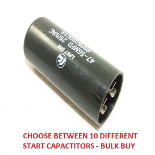 BULK BUY 1//3//10 MOTOR RUN START CAPACITOR 47-56 µF UF MICROFARAD 220V 240V 250V