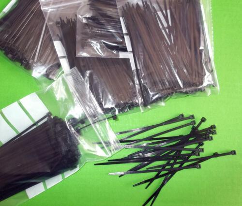 Cable Tie 100mm x 2.5mm Ties Black Small 500pcs Pkt100 x 5 Pkts  NTB-20M Offers