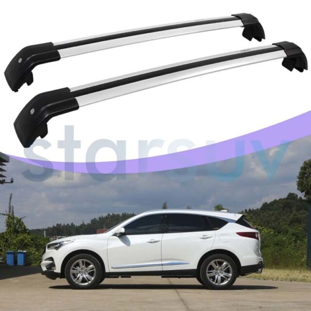 For Acura RDX 2019 2020 Silver Cross Bar Anti-Theft Roof