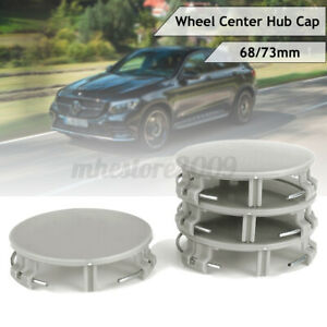 4pcs 73mm/68mm Wheel Center Hub Caps Emblem For Benz AMG GT CL500 CL600 Wreath