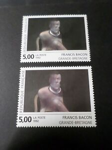 FRANCE-1992-VARIETE-COULEURS-timbre-2779-TABLEAU-BACON-neuf-MNH-STAMP
