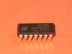 5 NE556N ST MICROELECTRONICS IC TIMER DUAL DIP14 556 ELECTRONIC COMPONENT QTY