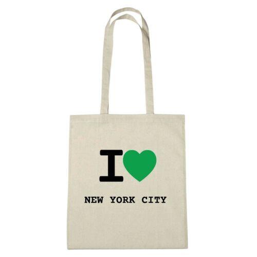 Bolsa de medio ambiente-I Love New York City-jutebeutel ökotasche-color naturaleza