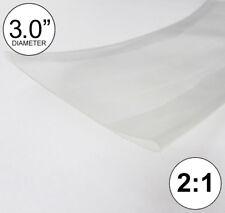 3 Id Clear Heat Shrink Tube 21 Ratio Polyolefin 30 2 Feet Inchftto 80mm