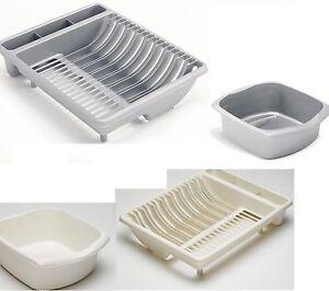 Image is loading Set-Of-2-Addis-Plastic-Dish-Drainer-X-  sc 1 st  eBay & Set Of 2 Addis Plastic Dish Drainer X Large Plate Rack Utensil ...
