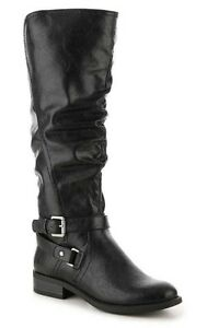 White-Mountain-Layton-knee-high-boots-tall-riding-black-sz-10-Med-WIDE-CALF-New