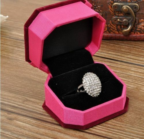 Beautiful Women's Wedding Rings Engagement Ring Silver Crystal Jewelry Size 6-10