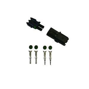 2x 3 Pin Delphi Weather Pack Connector 18-20awg Terminals and Seals 2 Sets