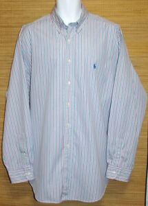 Ralph-Lauren-Size-17-Mens-Long-Sleeve-Shirt-Classic-Fit-Chest-52-54-034-Polo-Pony