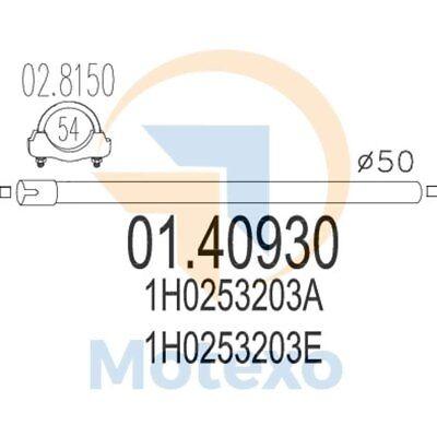 Analitico Mts 01.40930 Scarico Volkswagen Vento 1.9 Td 75bhp 09/93 - 07/96- Una Gamma Completa Di Specifiche