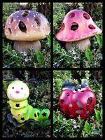 Solar Garden Decor Cute Animal Landscape Led Mushroom/apple/caterpillar Light