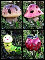 Solar Garden Decor Cute Animal Landscape Led Mushroom/apple/caterpillar Light