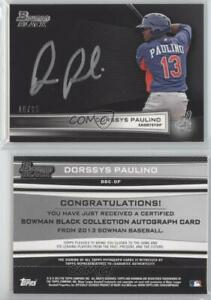 Image Is Loading 2013 Bowman Bbc Dp Dorssys Paulino Cleveland Indians