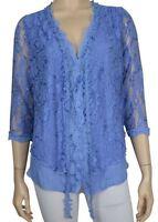 Pretty Angel Clothing Keltie Lace Top Cardigan In Light Blue S M L Xl 65362