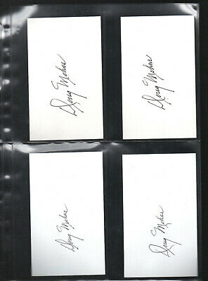 Doug Mohns Autographed/auto/signed/hand-signed Index Card 3x5 Hockey-nhl 10 Autographs-original