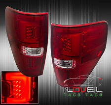 09-14 F150 F-SERIES REPLACEMENT STREAK L.E.D. BRAKE STOP TAIL LIGHTS LAMPS RED