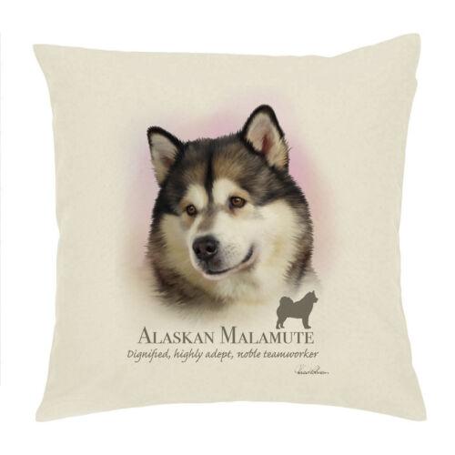 "H Robinson ALASKAN MALAMUTE DOG BREED Coton Drill Housse de coussin//Cushion 18/""x18/"""