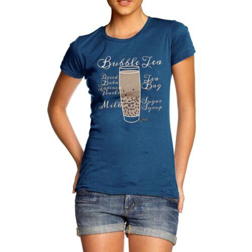 Twisted Envy Women/'s Tea Recipe Bubble Tea 100/% Cotton T-Shirt