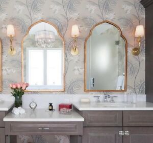 New 2 Moroccan Wall Mirrors Gold 40 Quot Arched Foyer Bathroom